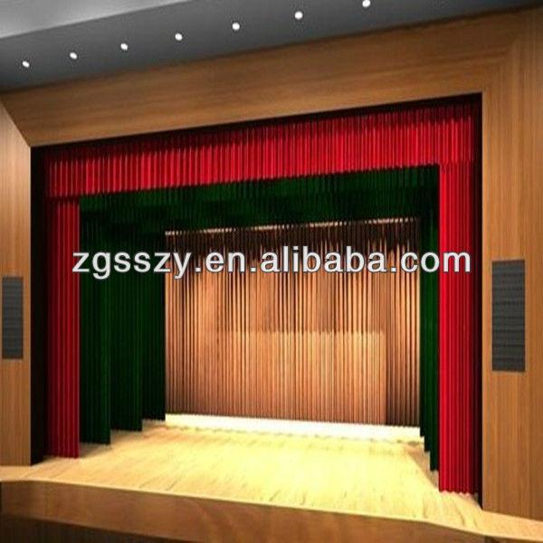 Motorized wireless control movie theater curtain buy for Motorized curtains home theater