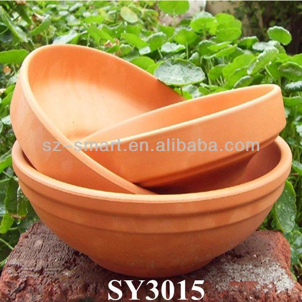 Bowl shape flower pots terracotta flower pots for indoor