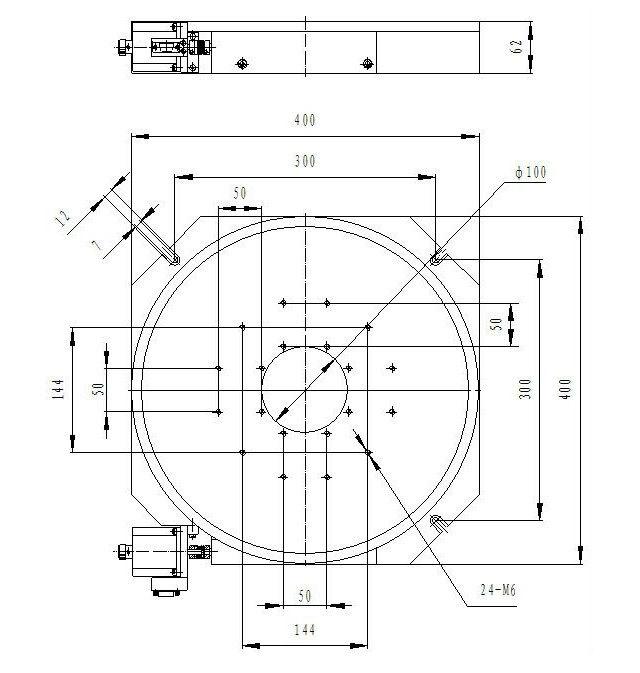 400mm Diameter Heavy Duty Motorized Rotary Positioning