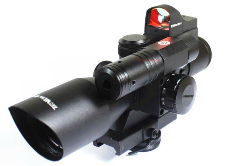 Vector Optics 2 5 10x40 Tacical Scope Green Laser Sight