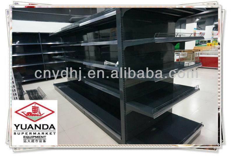 black standard shelves rack island gondola display. Black Bedroom Furniture Sets. Home Design Ideas
