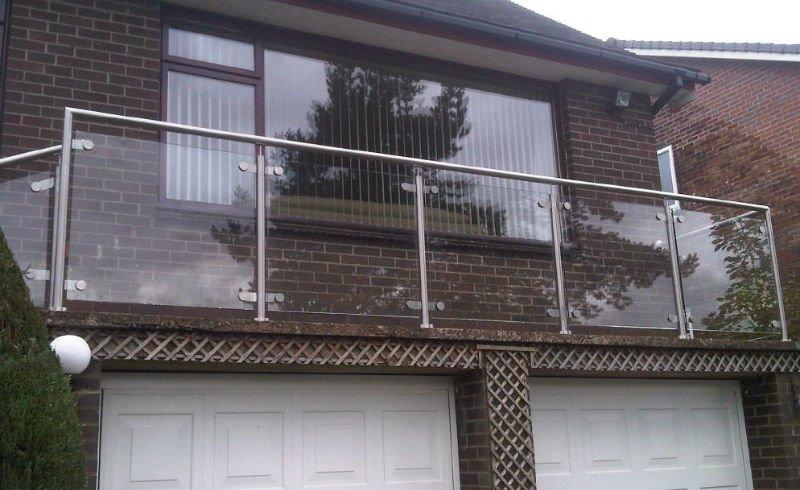 Stainless steel glass balcony railing buy glass balcony for Terrace railing design