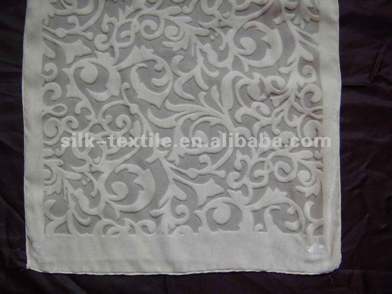 white burnout silk velvet scarves for diy painting