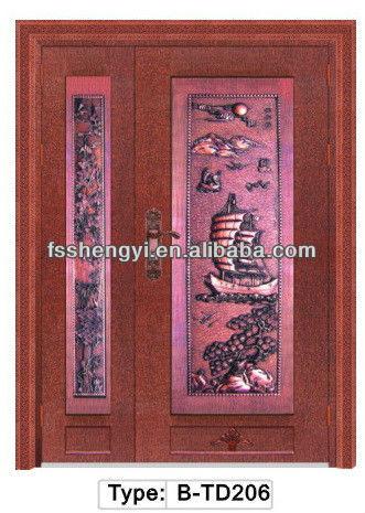 Luxury villa wrought iron decorative doors for main gate design & Luxury villa wrought iron decorative doors for main gate design ...