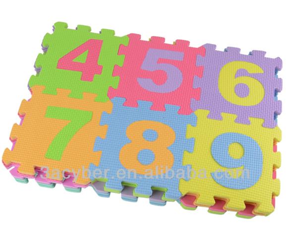 Alphabet Amp Numbers Soft Foam Puzzle Mat Children Kids Play