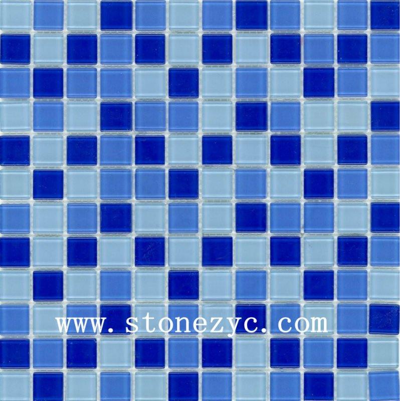 300 300mm Cheap Swimming Pool Mosaic Blue Crystal Glass Mosaic Mosaic Tiles Buy Swimming Pool