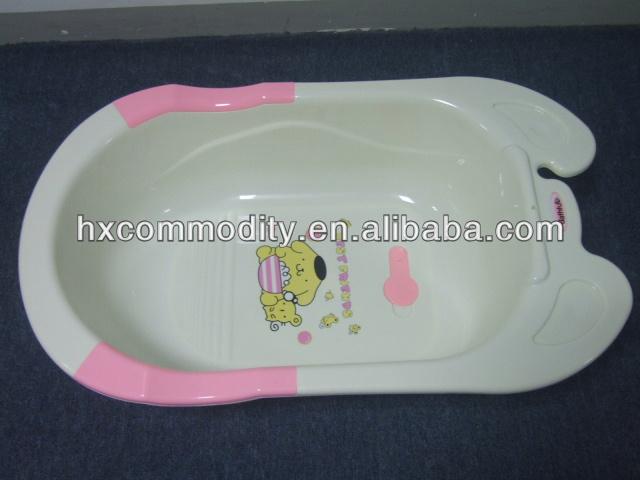 plastic baby bath tub with lying board buy bath tub baby. Black Bedroom Furniture Sets. Home Design Ideas