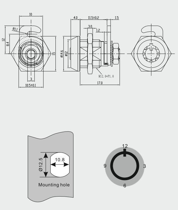 High Security Pin Tumbler Furniture Assembly Cam Locks View Furniture Assembly Cam Locks Top