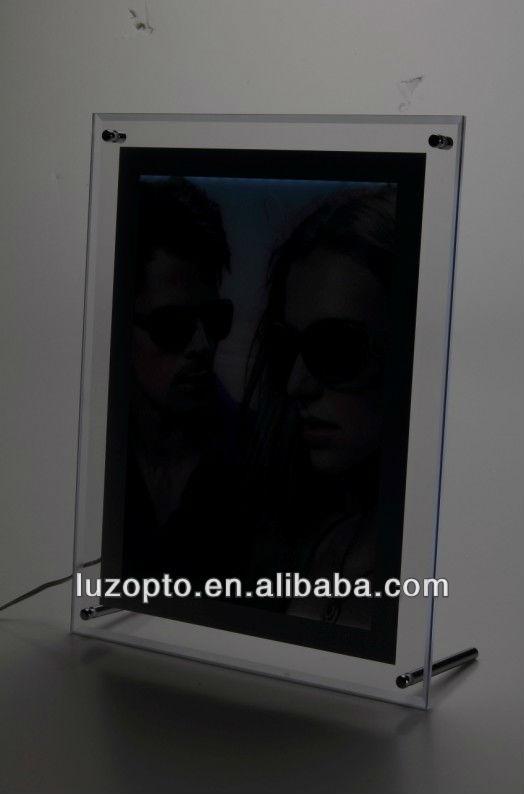 Wall Hanging Led Acrylic Photography Light Box For Window Sign - Buy Acrylic Photography Light ...