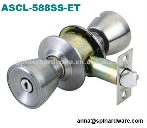 One Side Knob One Side Key Lock Cylinder Knob Door Lock Factory Door Knob Loc