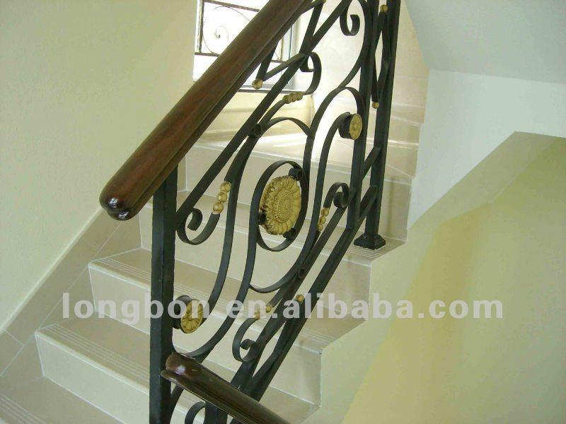 2013 top venta interior moderno hierro fundido escalera buy product on - Escaleras hierro forjado ...