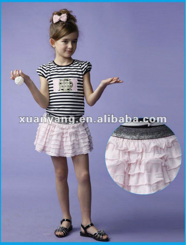 Fairytale Ruffle Girl Tutu Skirts Pink Girl Skirts Young