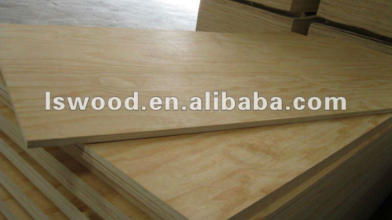 White laminated plywood sheet thin view