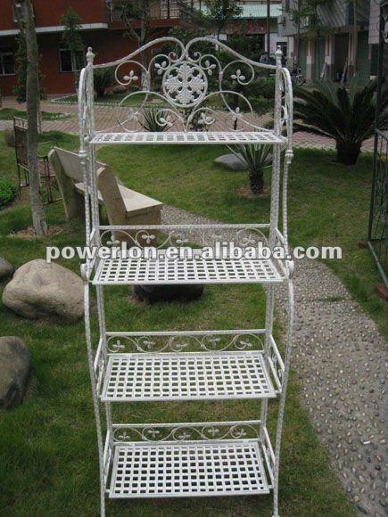 2013 new 3 tiers metal garden wire shelving for good - Estantes para plantas ...