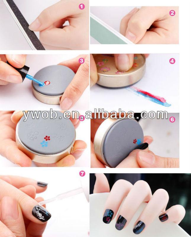 Nail Art Colors Drawing Polish Kit Stamper Diy Printer Nail Soft ...