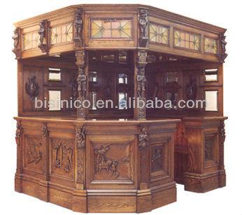 100 soild wood antique home bar cabinet view bar for Modelos de barras de bar