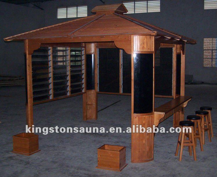 Luxury Garden Wooden Spa Pavilion Bar Gazebo KGT G11