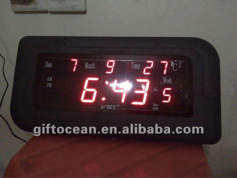 large digital led calendar wall clock jumbo led clock led display digital clock