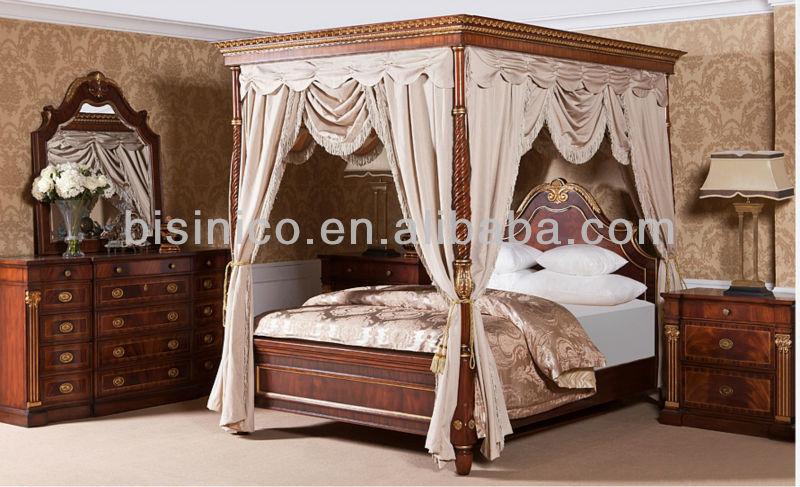 British 18th Century Windsor Style Bedroom Set Luxury