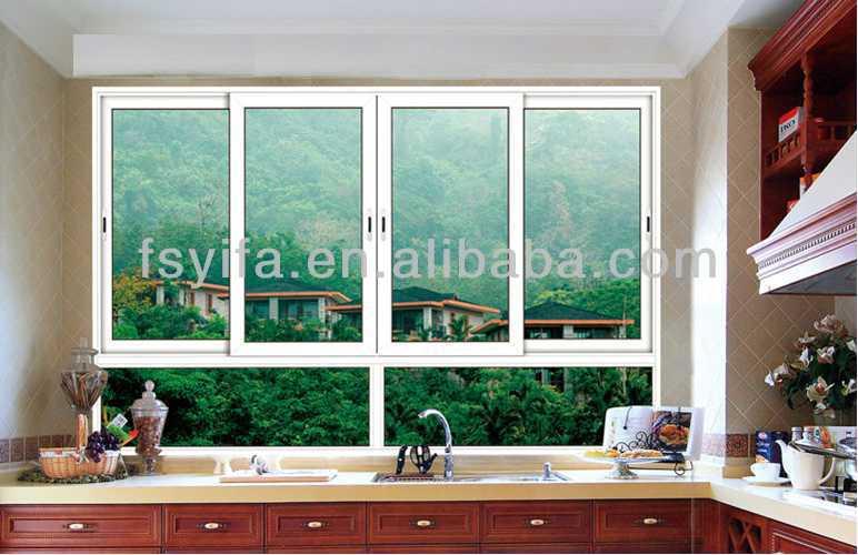 Yifa alta calidad oficina de aluminio correderas for Ventanas de aluminio para cocina