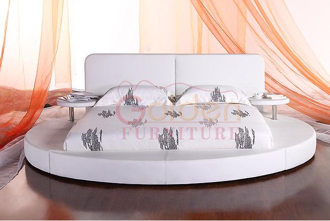 golden furniture white runder bett with round cup holder. Black Bedroom Furniture Sets. Home Design Ideas