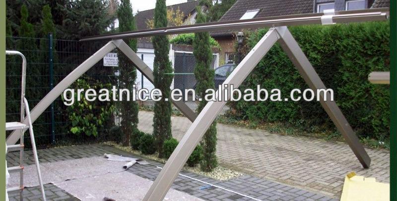 Pvc sail material and metal frame modern aluminum