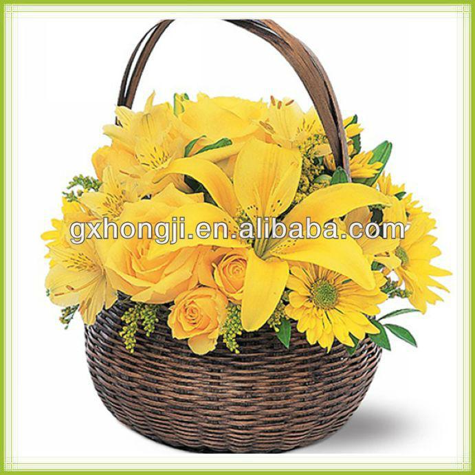 Flower Baskets Decoration : Artificial flower basket decoration decorated girl