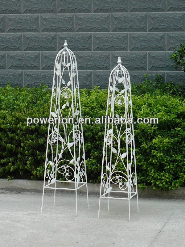 Marvelous Reusable 3pcs Lovely Cheap Fashion Decorative Iron Metal Garden Obelisk  Trellis