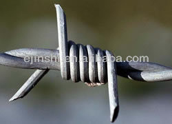 2 lines 4 points Hot Dipped Galvanized Normal Twist Security Barbed Wire