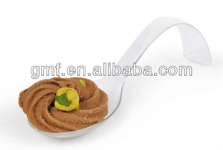 Professional disposable plastic canape spoon for food 15 for Plastic canape spoons