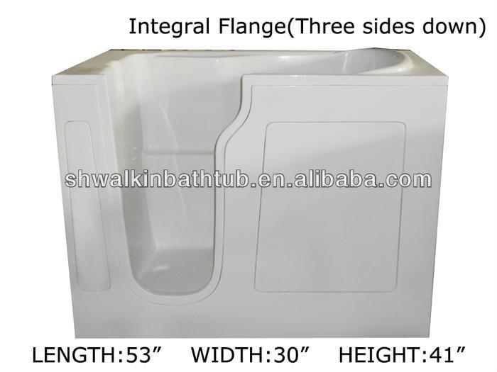 Tall walk in bathtub freestanding shower bath tub cw3053w for Bathtub for tall people