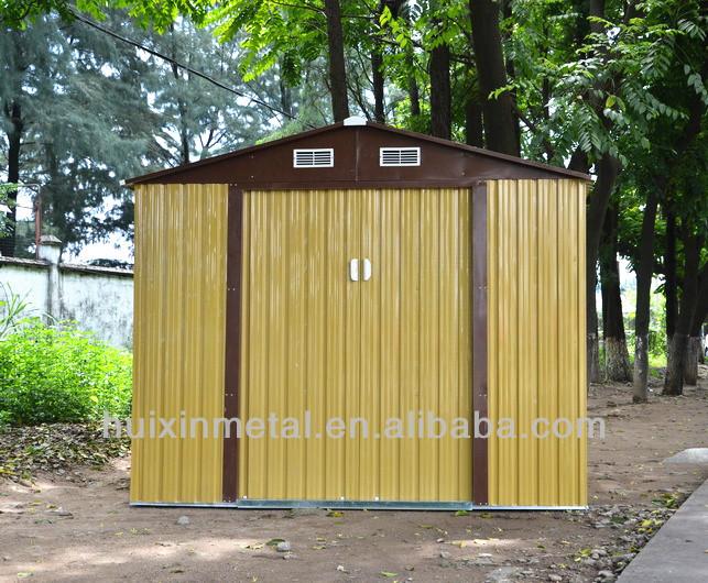 New waterproof used china outdoor metal storage sheds sale for Metal storage sheds for sale