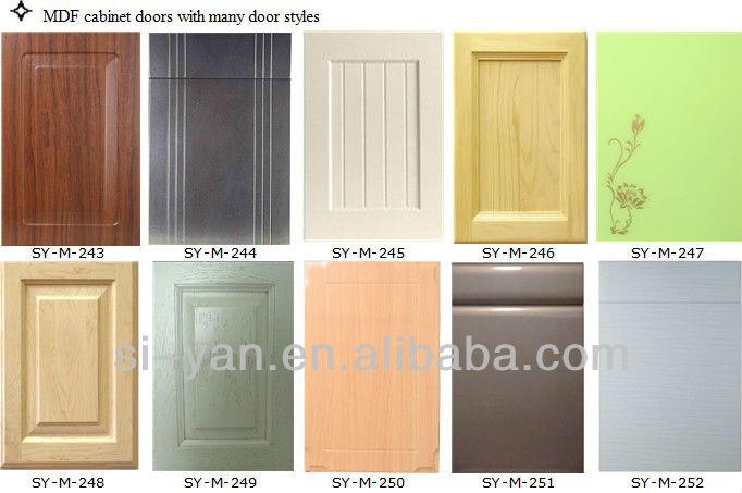 White wood kitchen cabinet plastic cover buy kitchen for Puertas para muebles de cocina baratas