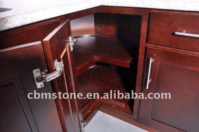 espresso beech wood kitchen cabinet with shaker door style