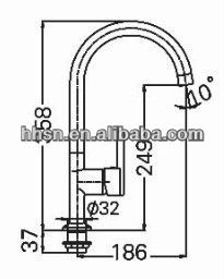 HH12531A Brass Kitchen Faucet Mixer Tap