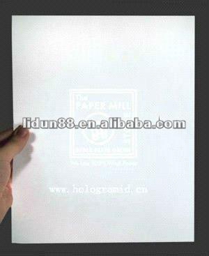 print on watermark paper