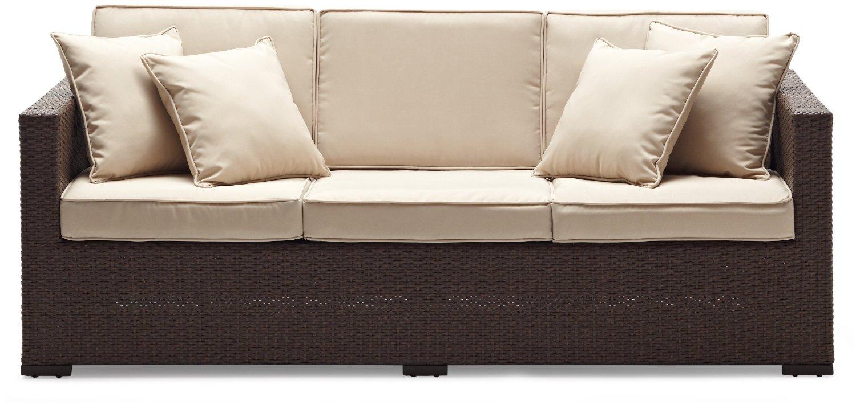 Rattan sofa outdoor  Hot sale Wicker Garden outdoor furniture factory price rattan sofa ...