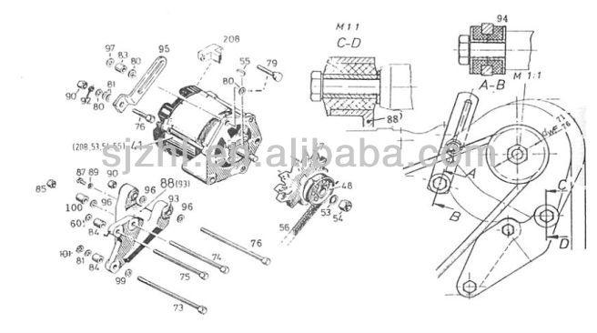 hot selling deutz fl912 fl913 engine parts 14v and 28v alternator