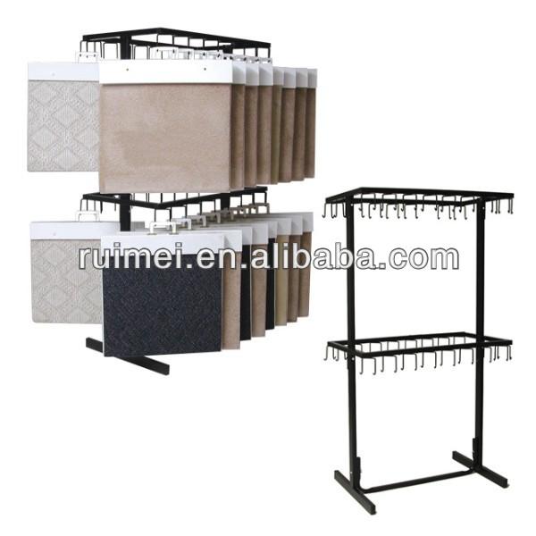 Metal Hanging Display Rack For Carpet Sample