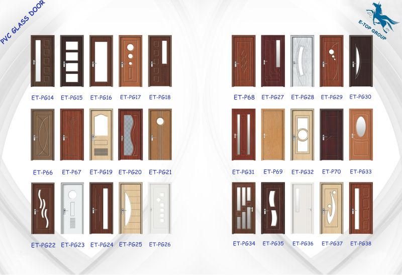 Cheapest pvc door interior wooden bathroom interior timber - Puerta metalicas exterior ...