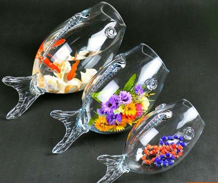 Decorative fish shaped unique fish bowls buy unique fish for Glass fish bowl