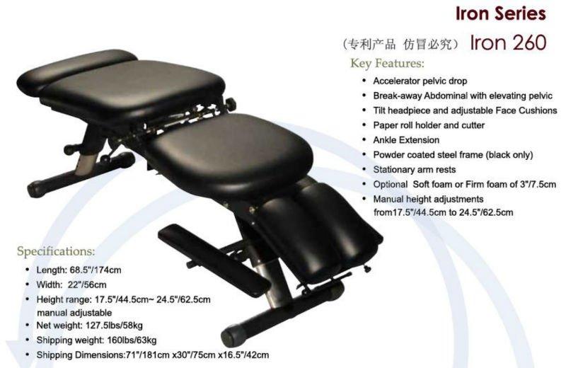 Sa Chiro Iron 260 4 Section Elevating Pelvic Chiropractic