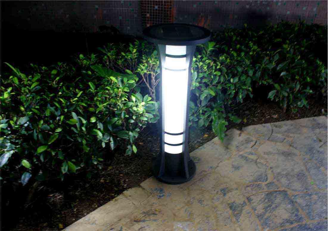 Solar Bollard Lights Outdoor Part - 15: Factory Direct Sale Solar Powered Garden Lights Solar Spot Lights For  Garden (JR-2713