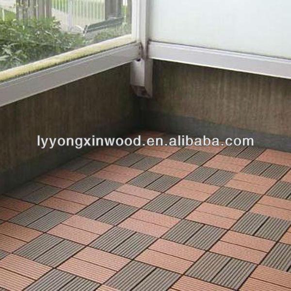 Eco Friendly Bathroom Wood Floor Plastic Composite