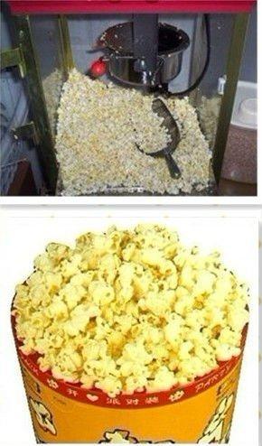 popcorn machine directions