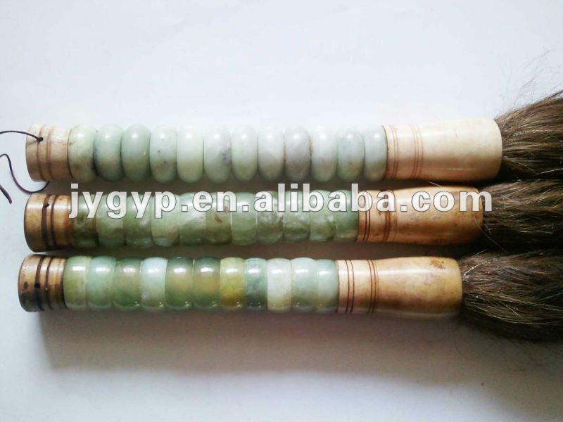 Jade abacus beads handle chinese calligraphy brush view