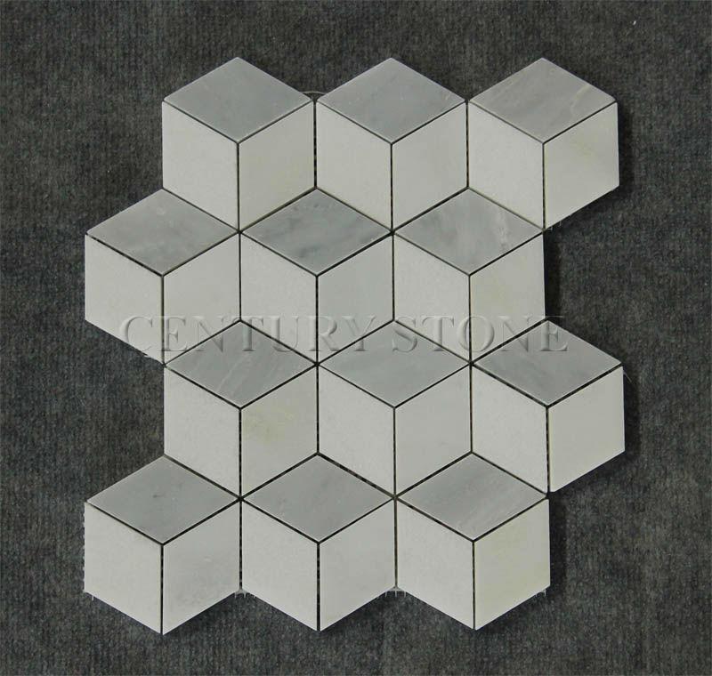 New Design 3d Carrara Mix Thassos White Dan Marble