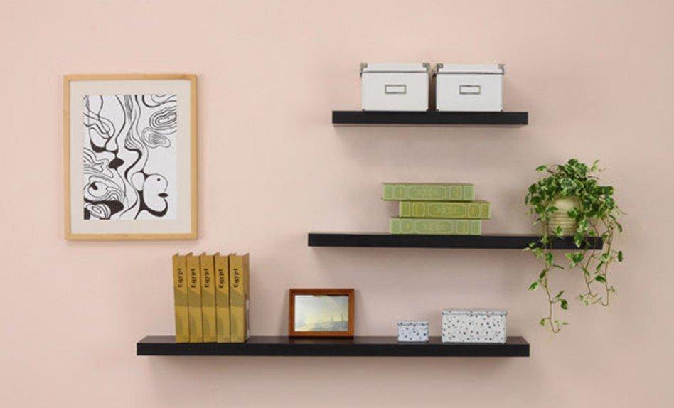 Wall Mounted Shelf With Hidden Bracket - Buy Floating