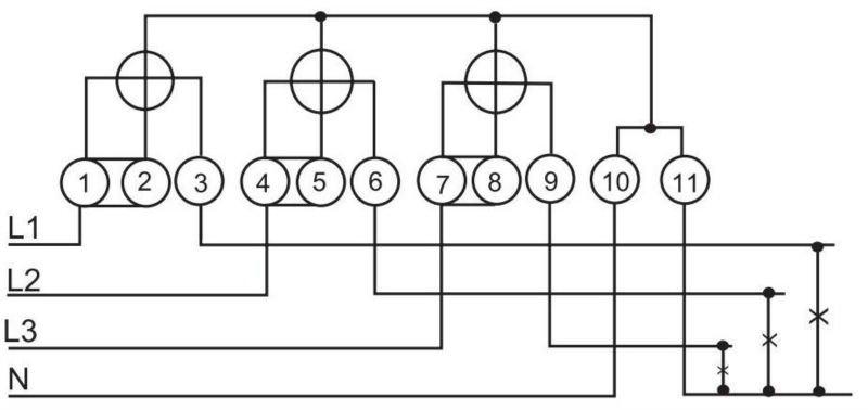 dt862 three phase 4 wire ct mechanical watt