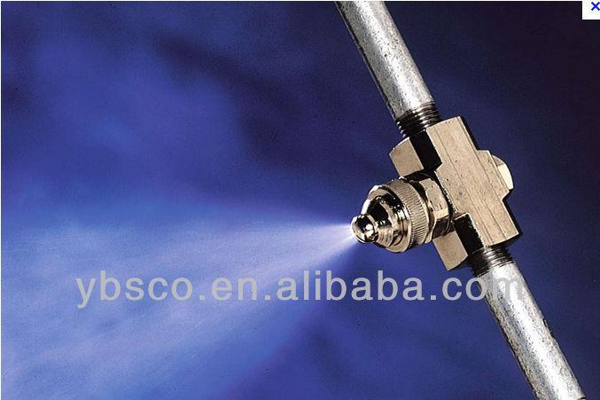 Siphon type adjustable air atomizing nozzle fog